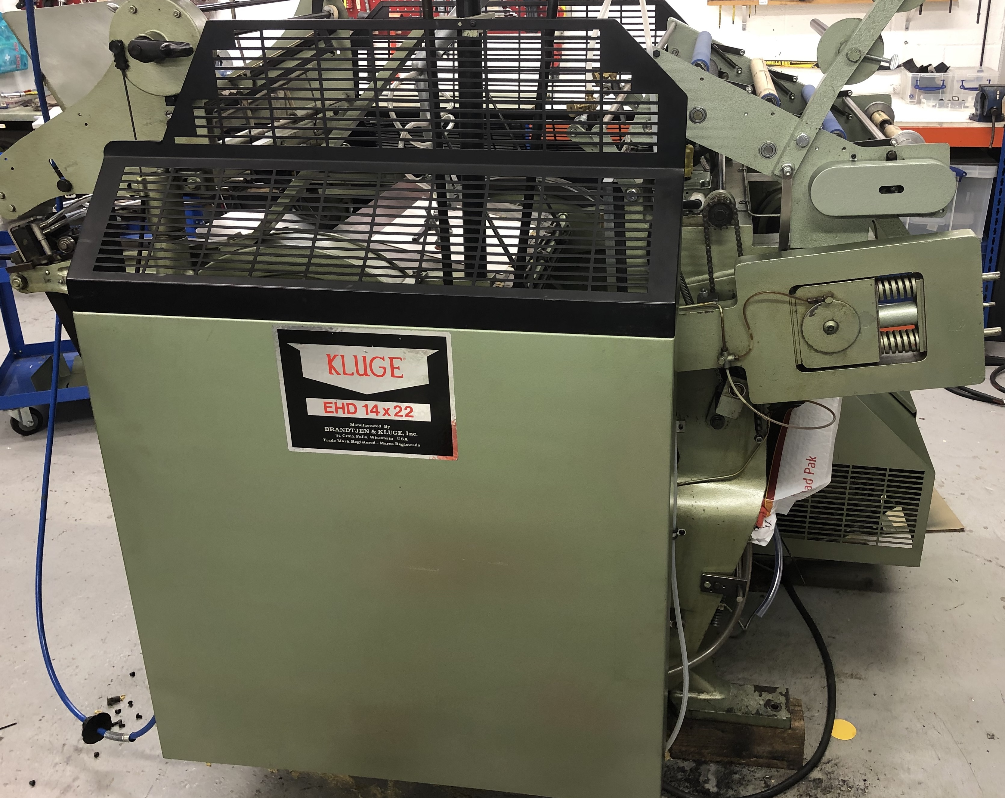 """Used Kluge 14 x 22"""" Foil Stamping, Embossing and Die Cutting Platen Press"""
