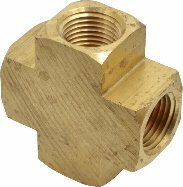 Parker 2205P-6 Pipe Cross 3/8 Female Brass